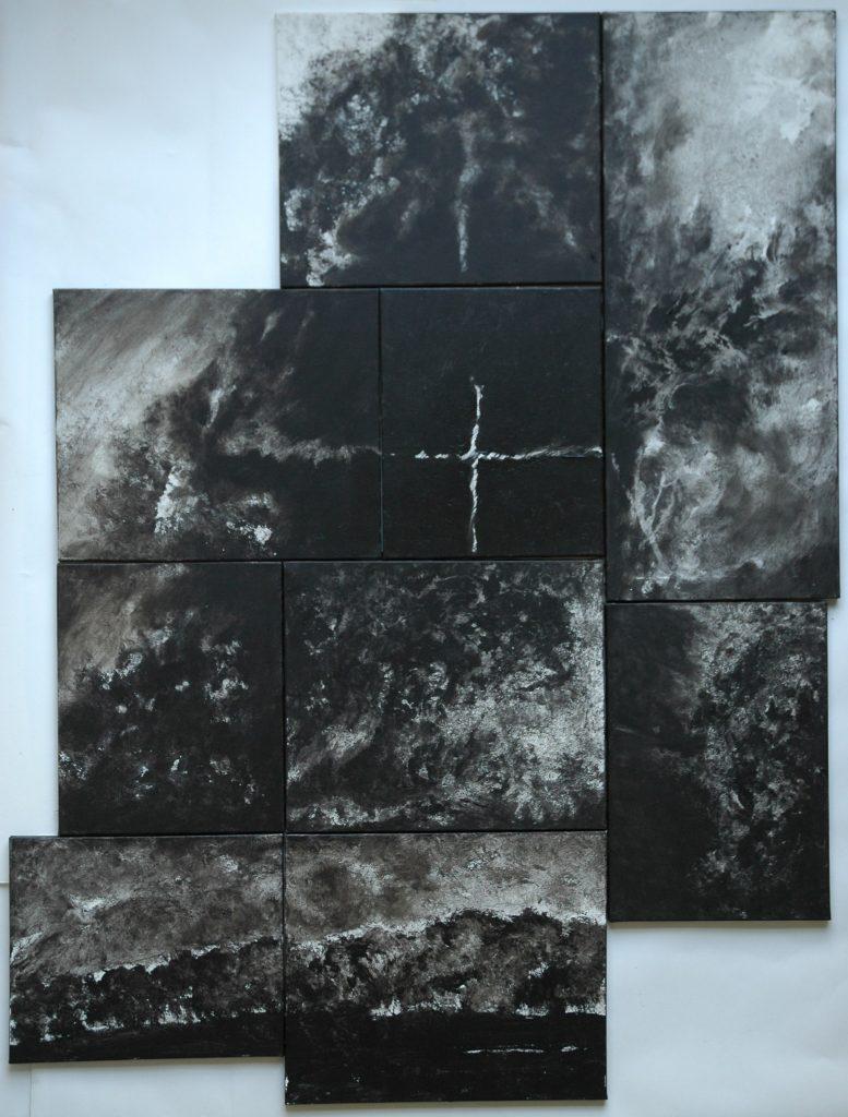 Arbor Noir MM, 2008, mixed media, 185x142 cm