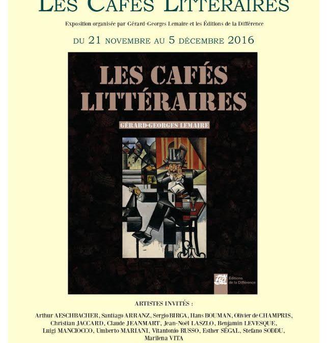 expo. Les Cafés littéraires aux Deux Magots, Paris, nov-dec. 2016